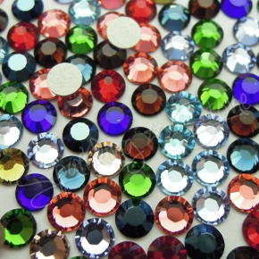 Swarovski Crystal 2028 2058 Rhinestone Flat Back Glue No Hotfix MANY COLORS
