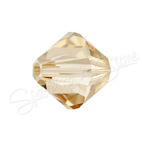 Swarovski 5328 Crystal Golden Shadow (001 GSHA)