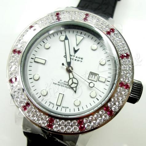 Vintage Concept X Swarovski Watches 50mm Rhinestones